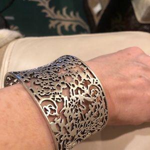 Lia Sophia filigree silvertone bracelet